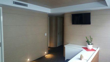 Houseboat wall paneling