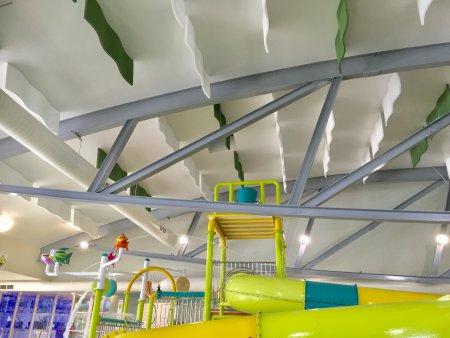 indoor aquatic centre pool ceiling