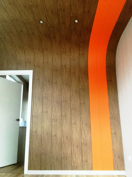 receiption feature wall