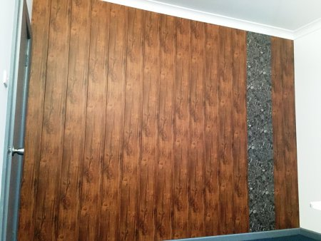 PVC wood and marble finish feature wall