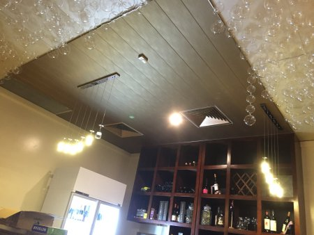 feature ceiling paneing
